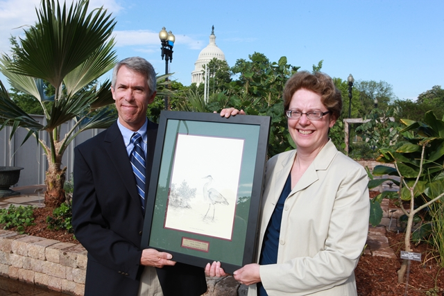 Doug Norris with Nancy Stoner of the U.S. Environmental Protection Agency, who presented his award.