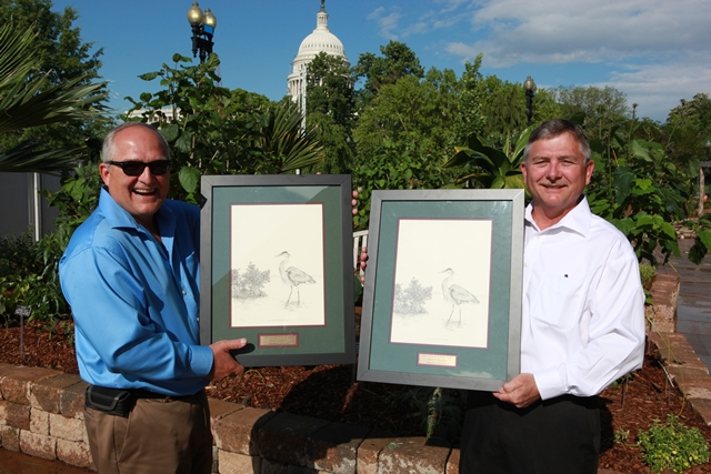 Steve and Jerry Panzner with their Education and Outreach awards.