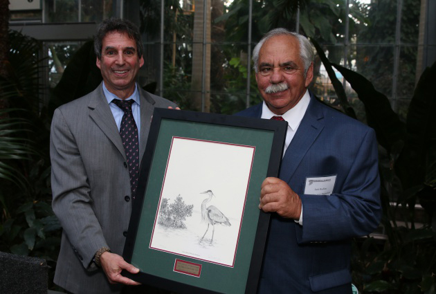 Jack Rudloe with Gerald Solomon of the Federal Highway Administration, who presented his award