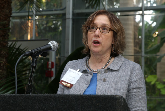 Ellen Gillinsky (U.S. EPA) delivers remarks before presenting an award