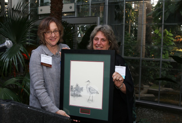 Esther Lev with Ellen Gillinsky of the U.S. Environmental Protection Agency, who presented her award